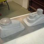 Aluminium gevulde mallen van PU giethars