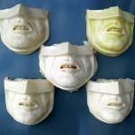 Batman masker, gegoten van PU rubber