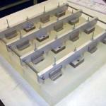 Giet opstelling voor het met PU rubber bekleden van stalen blokken