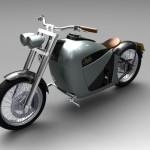 Rendering Orphiro elektrische motorfiets